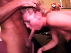 Aggressive deepthroat cocksucking helter-skelter blonde
