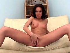 Small boobs girl in high heels sucks Hawkshaw