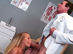 Sweet Britney Young is moaning wildly as Peter North licks their way sexy axe wound hungrily
