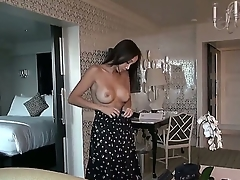 Asian Katsuni looks fantastic! Her big perky tits and firm round ass are awesome and she wants to taste sweet cock of her new husband and sucks it up to the great end!