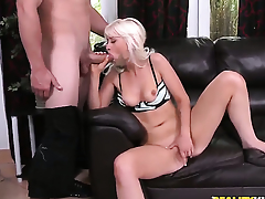 Blonde displays her naughty bits