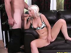 Blonde displays her naughty bits